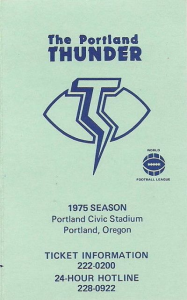Portland Thunder Pocket Schedule