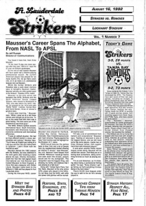 Arnie Mausser Fort Lauderdale Strikers