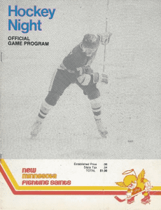 1976 Minnesota Fighting Saints Program