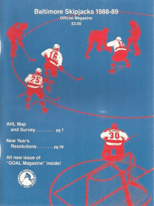 Baltimore Skipjacks Program