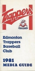 1981 Edmonton Trappers Media Guide