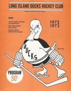 1972-73 Long Island Ducks Program