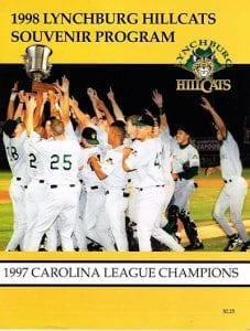 1998 Lynchburg Hillcats Program