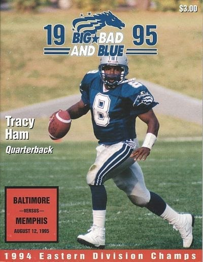 Tracy Ham Baltimore Stallions