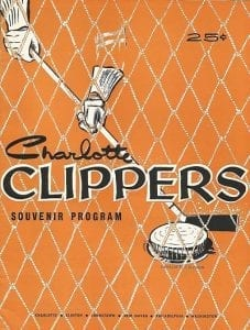 1956 Charlotte Clippers Program