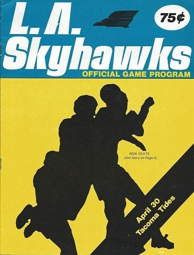 1976 Los Angeles Skyhawks Program