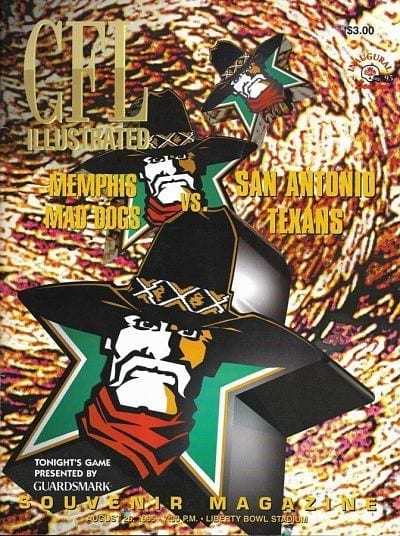 1995 Memphis Mad Dogs Program