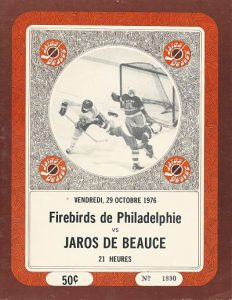 1976 Beauce Jaros Program