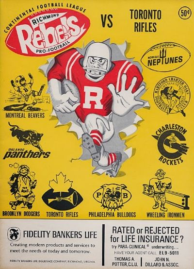 Toronto Rifles @ Richmond Rebels. September 29, 1966