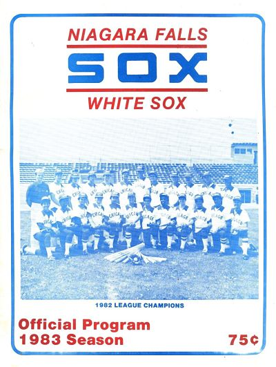 1983 Niagara Falls White Sox Program