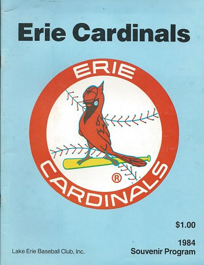 1984 Erie Cardinals Program