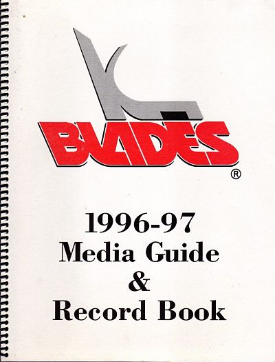 1996-97 Kansas City Blades Media Guide