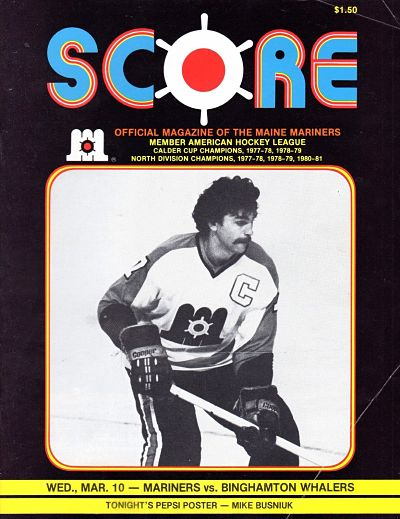 1982 Maine Mariners Program
