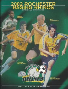 2002 Rochester Raging Rhinos Program