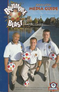 2001-02 Baltimore Blast Media Guide