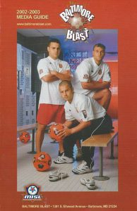 2002-03 Baltimore Blast Media Guide