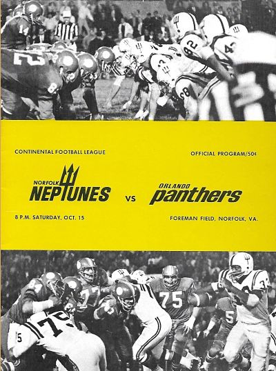 Orlando Panthers at Norfolk Neptunes. October 15, 1966