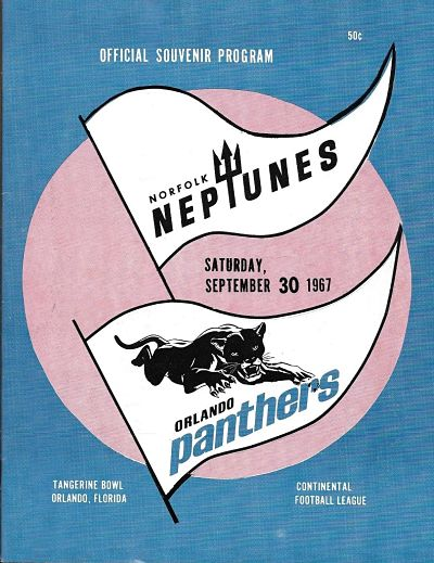 1967 Orlando Panthers Program