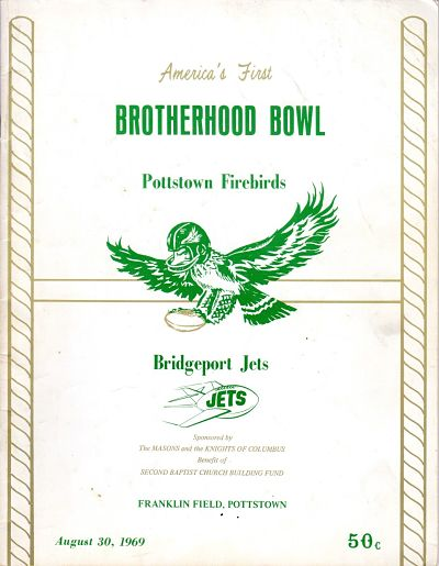 1969 Pottstown Firebirds Program