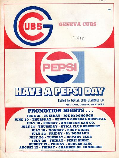 1977 Geneva Cubs Program
