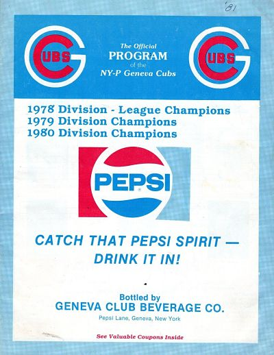 1981 Geneva Cubs Program