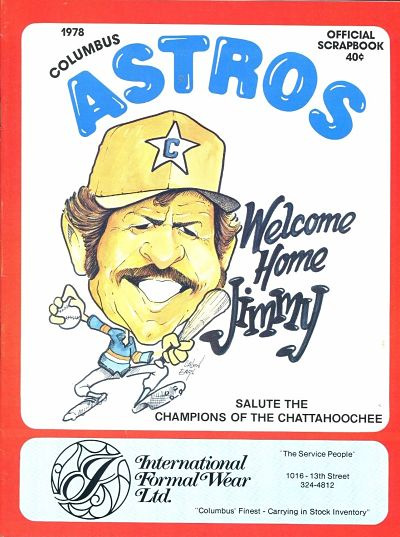 1978 Columbus Astros Program